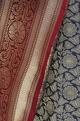 Zari banarasi silk sari with unstitched blouse