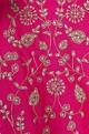 Raw silk zari embroidered lehenga set