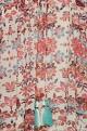 Floral printed tassel blouse