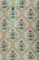 Chanderi floral printed classic kurta