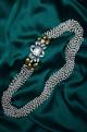 Shilpa Purii Pearl necklace with crystal pendant