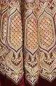 Velvet gota & zardozi embroidered bridal lehenga set