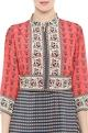 Draped midi dress & short jacket