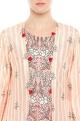 Printed kurta with long striped jacket