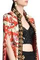 Shivan and Narresh Mughal print & skein work jacket with front clasp