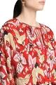 Shivan and Narresh Printed blouse with flared sleeves