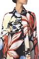 Siddhartha Tytler Floral Print Sequin Embroidered Shirt