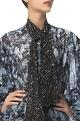 Siddhartha Tytler Puff Sleeves Printed Shirt & Scarf