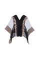 Kavita Bhartia Sheer organza embroidered poncho blouse with inner