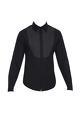 Rajesh Pratap Singh - Men Black cotton shirt with stitch details at the yoke