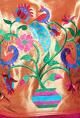 Neeta LullaOrchid pink & gold pleated kurta with blue pants