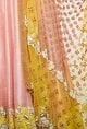Divya ReddyRose pink & haldi embroidered lehenga set
