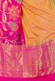 Mint N' OrangesMustard and fuschia banarasi silk sari