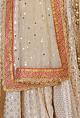 Daddy's Princess Ivory & raani pink gota embroidered lehenga set