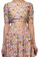 Daddy's PrincessMulti colored floral printed crop top with skirt
