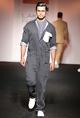 SOL by Piyush DedhiaBlack boiler suit with white patch pocket