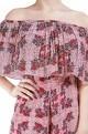 JULIE Multicolored floral printed off-shoulder jumpsuit