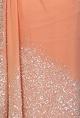 Nakul SenPeach sequin embellished sari