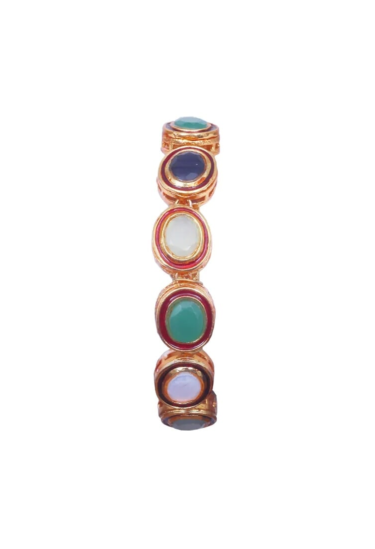 Just Shradha'sGreen and red onyx bangle