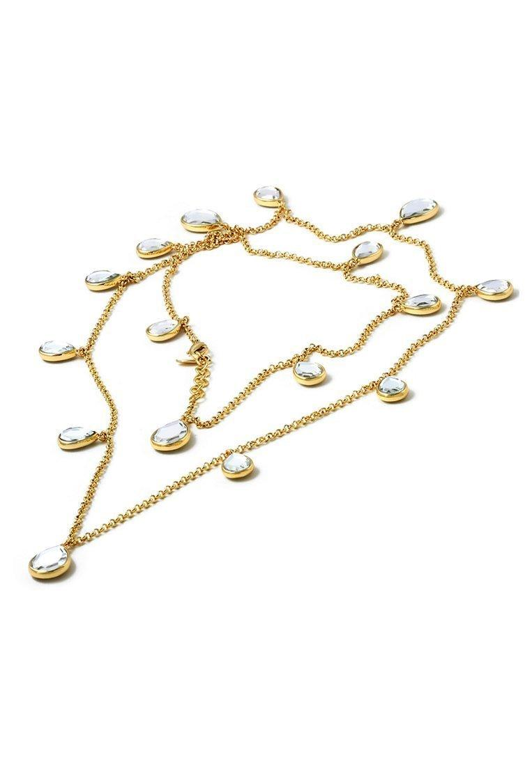 IsharyaMirror tear drop long necklace