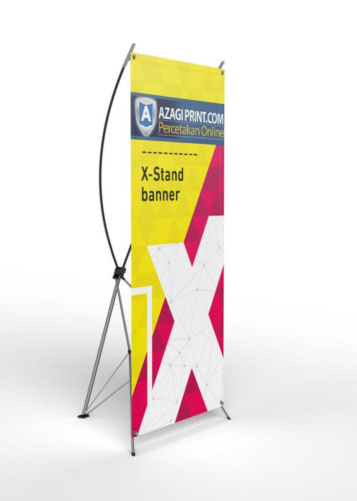 Tampilan X Banner Dari kiri | Cetak X Banner di jakarta