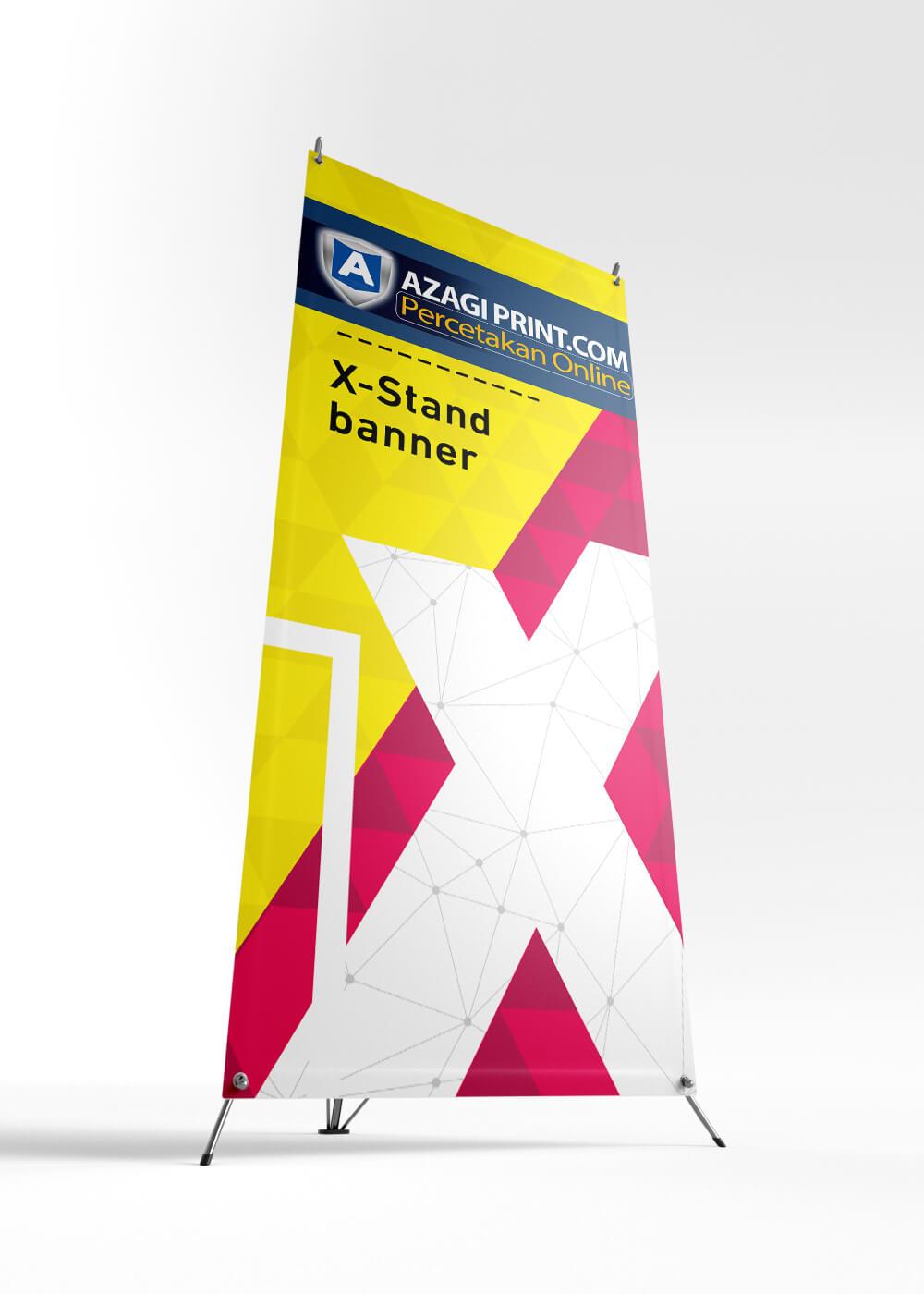 X Banner Dari Bawah | Cetak X banner ALbatros