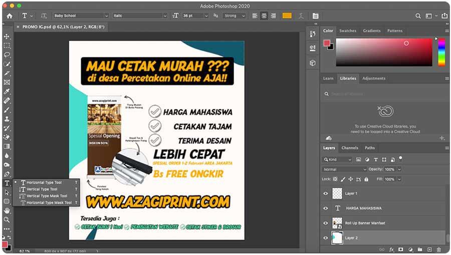 Tips cara memilih font untuk pembutan banner bagi pemula