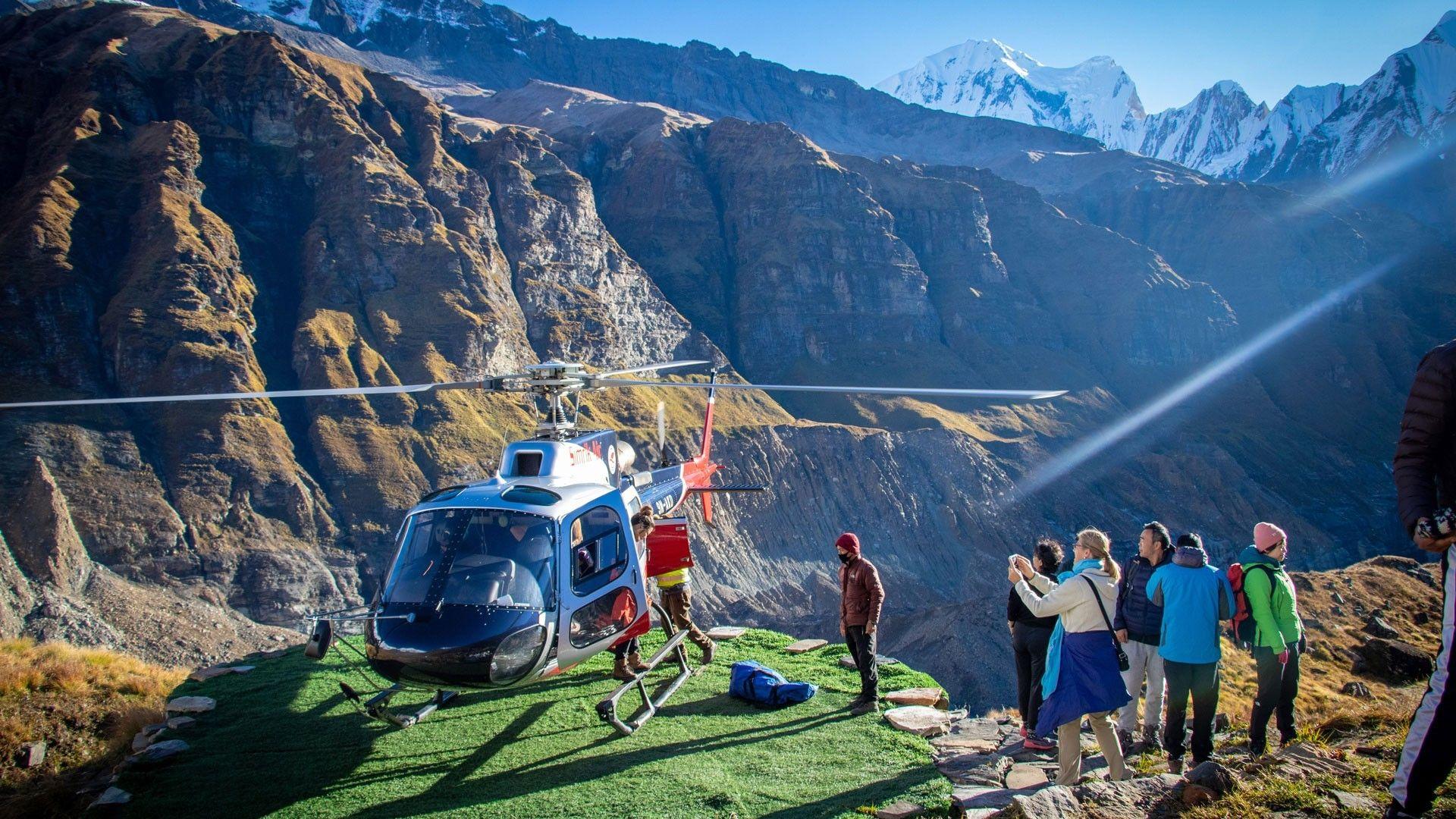 Heli tour to Annapurna base camp