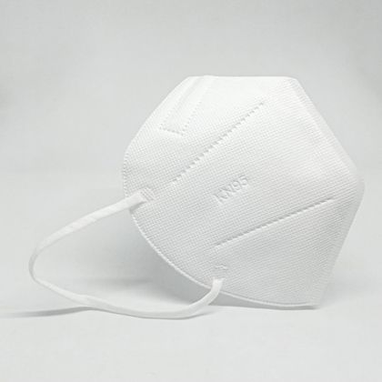 White CBDArmour N95 face mask with clear background