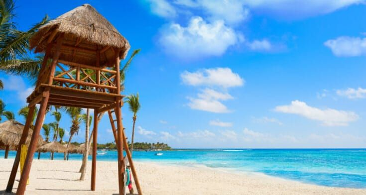 Beaches in playa del carmen