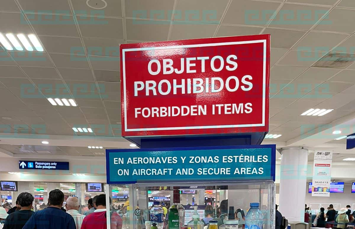Prohibited Items at Airport Cancun