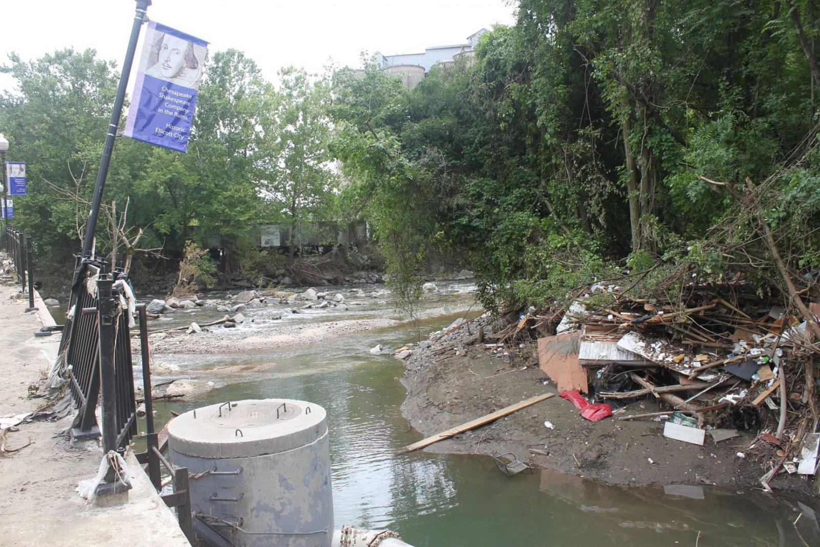 Ellicott City Flood Recovery Patapsco River