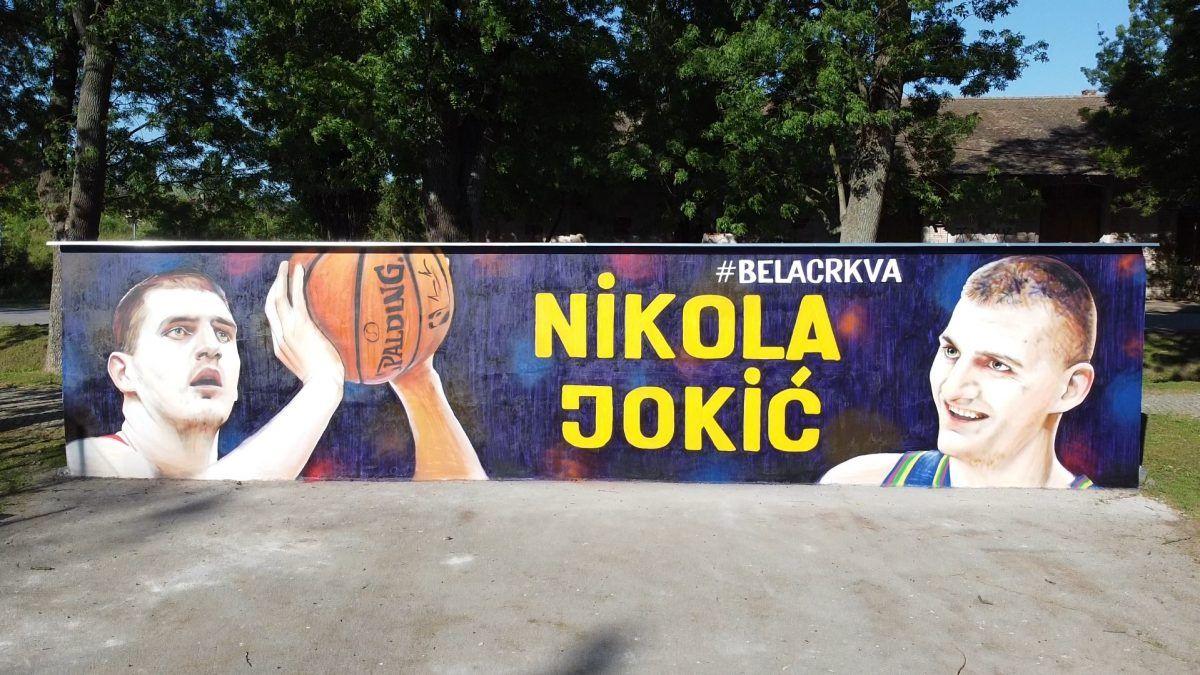 Mural Jokic Zeleznicki park