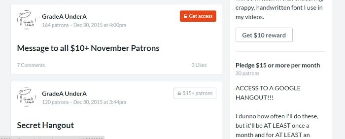 patreon page example