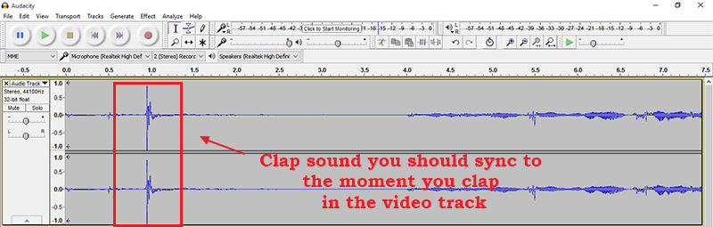 sync professional audio when making youtube videos