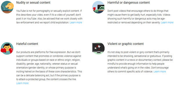 YouTube Policies