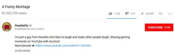 pewdiepie's most popular video