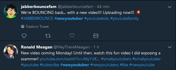 new youtuber hashtags