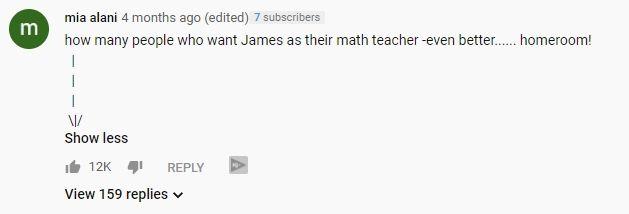 youtube fan comment