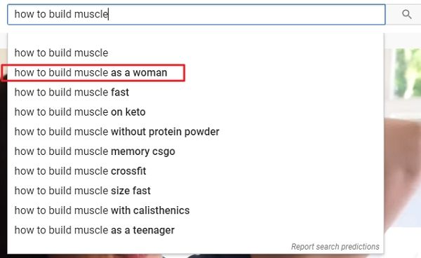 youtube search autocomplete function for finding keywords