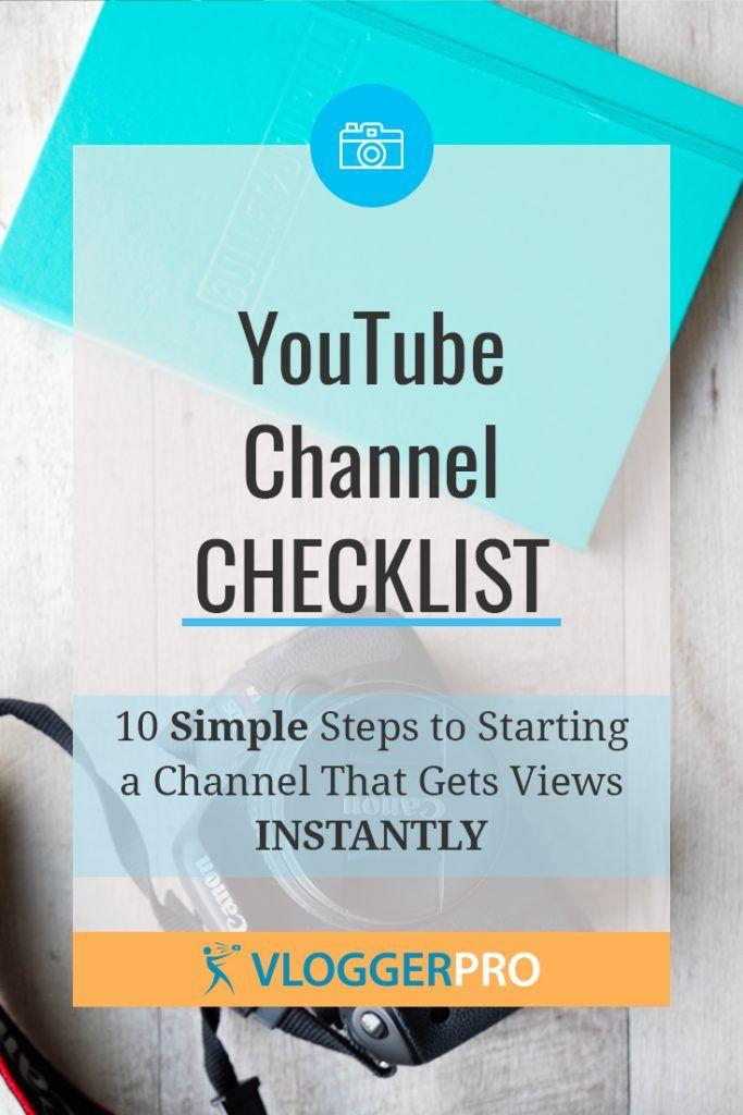 youtube channel checklist