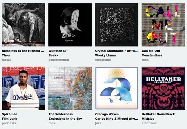 artist lists on bandcamp