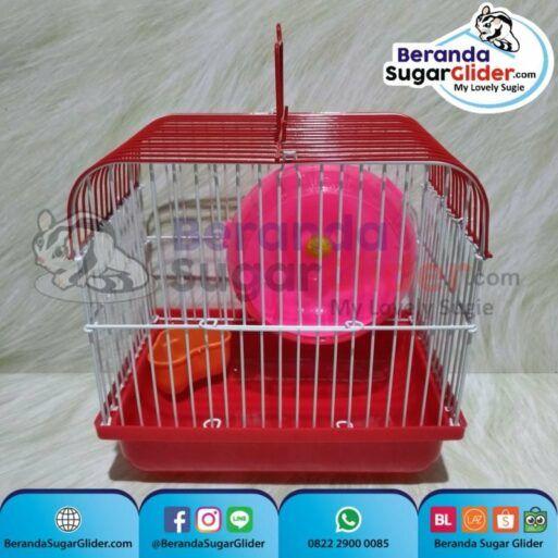 Kandang Besi Lipat Smart Home Merah Ukuran Mini Extra Small Size XS Hewan Peliharaan Joey Sugar Glider SG Bajing Kelapa Burung Guinea Pig Hamster Marmut Tupai Terbang