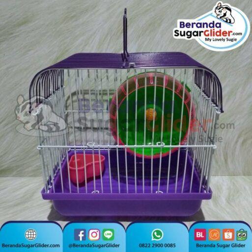 Kandang Besi Lipat Smart Home Ungu Ukuran Mini Extra Small Size XS Hewan Peliharaan Joey Sugar Glider SG Bajing Kelapa Burung Guinea Pig Hamster Marmut Tupai Terbang