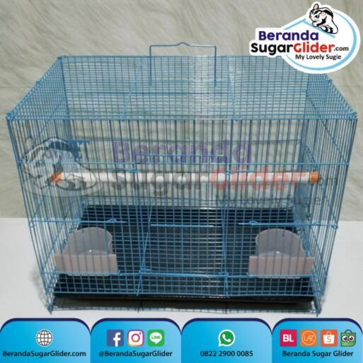 Kandang Besi Lipat Sweet Biru Ukuran Sedang Medium Size M Hewan Peliharaan Joey Sugar Glider SG Bajing Kelapa Burung Guinea Pig Hamster Iguana Landak Mini Marmut Musang Otter Tupai Terbang