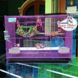 Kandang Besi Lipat Sweet Ukuran Besar Large Size L Full Set 1 Hewan Peliharaan Joey Sugar Glider SG Bajing Kelapa Burung Guinea Pig Hamster Landak Mini Marmut Musang Otter Tupai Terbang
