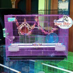Kandang Besi Lipat Sweet Ukuran Besar Large Size L Full Set 4 Hewan Peliharaan Joey Sugar Glider SG Bajing Kelapa Burung Guinea Pig Hamster Landak Mini Marmut Musang Otter Tupai Terbang