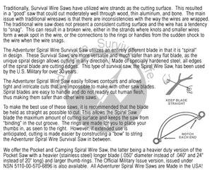 Best Glide ASE Spiral Wire Camp Saw