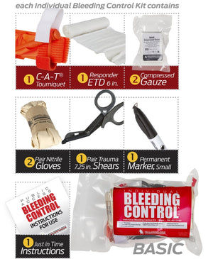 D-BCRK Individual Bleeding Control Kit - Vacuum Sealed by North American Rescue