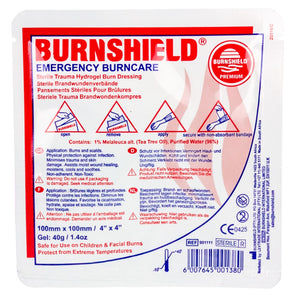 Burnshield Premium Emergency Burncare Dressing 4 x 4 Inch